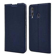 Samsung Galaxy A60用手帳型 レザーケース スタンド カバー サムスン ネイビー