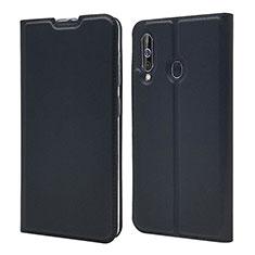 Samsung Galaxy A60用手帳型 レザーケース スタンド カバー サムスン ブラック