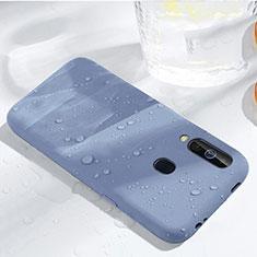 Samsung Galaxy A60用360度 フルカバー極薄ソフトケース シリコンケース 耐衝撃 全面保護 バンパー サムスン ブルー