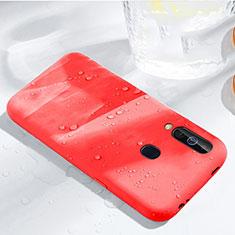 Samsung Galaxy A60用360度 フルカバー極薄ソフトケース シリコンケース 耐衝撃 全面保護 バンパー サムスン レッド