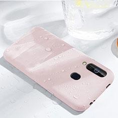 Samsung Galaxy A60用360度 フルカバー極薄ソフトケース シリコンケース 耐衝撃 全面保護 バンパー サムスン ローズゴールド