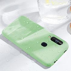 Samsung Galaxy A60用360度 フルカバー極薄ソフトケース シリコンケース 耐衝撃 全面保護 バンパー サムスン グリーン