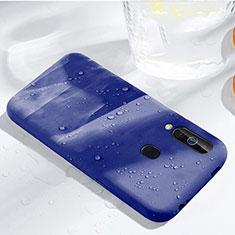 Samsung Galaxy A60用360度 フルカバー極薄ソフトケース シリコンケース 耐衝撃 全面保護 バンパー サムスン ネイビー