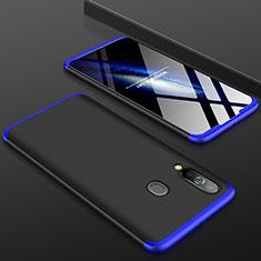 Samsung Galaxy A60用ハードケース プラスチック 質感もマット 前面と背面 360度 フルカバー サムスン ネイビー・ブラック