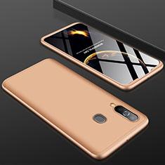 Samsung Galaxy A60用ハードケース プラスチック 質感もマット 前面と背面 360度 フルカバー サムスン ゴールド