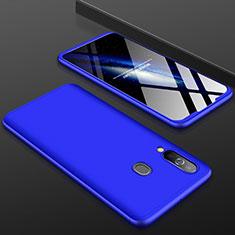 Samsung Galaxy A60用ハードケース プラスチック 質感もマット 前面と背面 360度 フルカバー サムスン ネイビー
