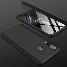 Samsung Galaxy A60用ハードケース プラスチック 質感もマット 前面と背面 360度 フルカバー サムスン ブラック