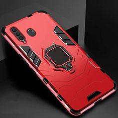 Samsung Galaxy A60用ハイブリットバンパーケース スタンド プラスチック 兼シリコーン カバー マグネット式 サムスン レッド