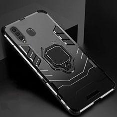Samsung Galaxy A60用ハイブリットバンパーケース スタンド プラスチック 兼シリコーン カバー マグネット式 サムスン ブラック