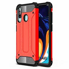 Samsung Galaxy A60用360度 フルカバー極薄ソフトケース シリコンケース 耐衝撃 全面保護 バンパー S01 サムスン レッド
