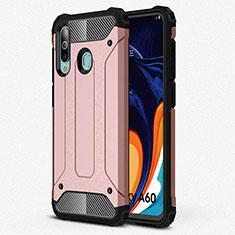 Samsung Galaxy A60用360度 フルカバー極薄ソフトケース シリコンケース 耐衝撃 全面保護 バンパー S01 サムスン ローズゴールド