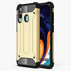 Samsung Galaxy A60用360度 フルカバー極薄ソフトケース シリコンケース 耐衝撃 全面保護 バンパー S01 サムスン ゴールド