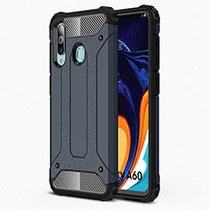 Samsung Galaxy A60用360度 フルカバー極薄ソフトケース シリコンケース 耐衝撃 全面保護 バンパー S01 サムスン ネイビー