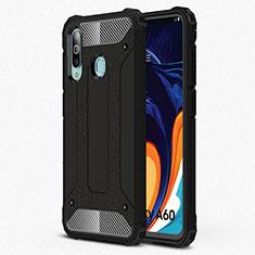 Samsung Galaxy A60用360度 フルカバー極薄ソフトケース シリコンケース 耐衝撃 全面保護 バンパー S01 サムスン ブラック