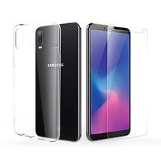 Samsung Galaxy A6s用極薄ソフトケース シリコンケース 耐衝撃 全面保護 クリア透明 アンド液晶保護フィルム サムスン クリア