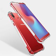 Samsung Galaxy A6s用極薄ソフトケース シリコンケース 耐衝撃 全面保護 クリア透明 T04 サムスン クリア