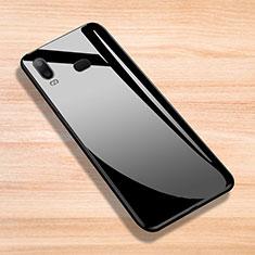 Samsung Galaxy A6s用シリコンケース ソフトタッチラバー 鏡面 サムスン ブラック