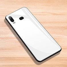 Samsung Galaxy A6s用シリコンケース ソフトタッチラバー 鏡面 サムスン ホワイト