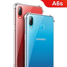 Samsung Galaxy A6s用極薄ソフトケース シリコンケース 耐衝撃 全面保護 クリア透明 T08 サムスン クリア
