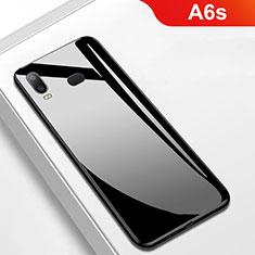 Samsung Galaxy A6s用シリコンケース ソフトタッチラバー 鏡面 M01 サムスン ブラック