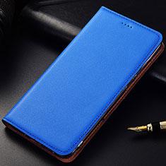 Samsung Galaxy A6s用手帳型 レザーケース スタンド カバー サムスン ネイビー