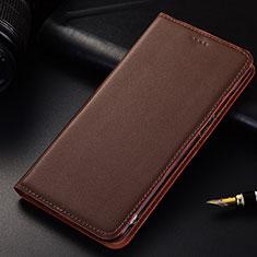 Samsung Galaxy A6s用手帳型 レザーケース スタンド カバー サムスン ブラウン