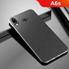 Samsung Galaxy A6s用ハードケース プラスチック カバー サムスン ブラック
