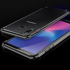 Samsung Galaxy A6s用極薄ソフトケース シリコンケース 耐衝撃 全面保護 クリア透明 H01 サムスン ブラック