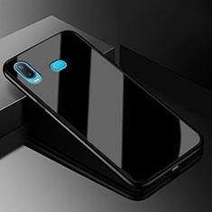 Samsung Galaxy A6s用ハイブリットバンパーケース プラスチック 鏡面 カバー サムスン ブラック
