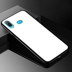 Samsung Galaxy A6s用ハイブリットバンパーケース プラスチック 鏡面 カバー サムスン ホワイト