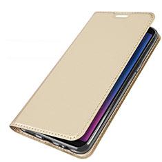 Samsung Galaxy A6s用手帳型 レザーケース スタンド カバー L01 サムスン ゴールド