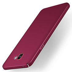 Samsung Galaxy A7 (2016) A7100用ハードケース プラスチック 質感もマット M01 サムスン レッド