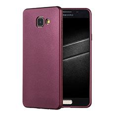 Samsung Galaxy A7 (2016) A7100用極薄ソフトケース シリコンケース 耐衝撃 全面保護 S01 サムスン パープル