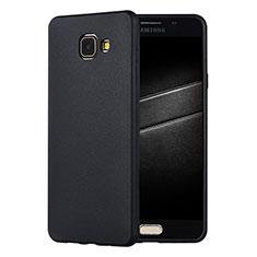 Samsung Galaxy A7 (2016) A7100用極薄ソフトケース シリコンケース 耐衝撃 全面保護 S01 サムスン ブラック