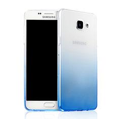 Samsung Galaxy A7 (2016) A7100用極薄ソフトケース グラデーション 勾配色 クリア透明 サムスン ネイビー