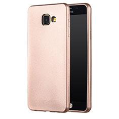 Samsung Galaxy A7 (2016) A7100用極薄ソフトケース シリコンケース 耐衝撃 全面保護 サムスン ゴールド