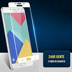 Samsung Galaxy A7 (2016) A7100用強化ガラス フル液晶保護フィルム F02 サムスン ホワイト