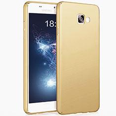 Samsung Galaxy A7 (2017) A720F用ハードケース プラスチック 質感もマット サムスン ゴールド