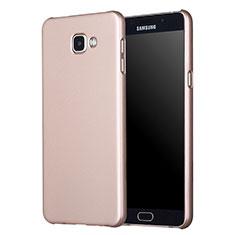 Samsung Galaxy A7 (2017) A720F用ハードケース プラスチック 質感もマット M01 サムスン ゴールド