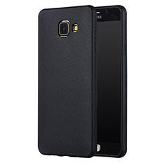 Samsung Galaxy A7 (2017) A720F用極薄ソフトケース シリコンケース 耐衝撃 全面保護 サムスン ブラック