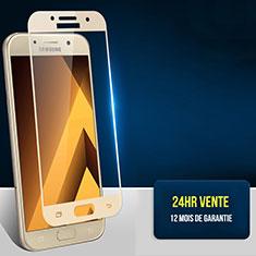 Samsung Galaxy A7 (2017) A720F用強化ガラス フル液晶保護フィルム F05 サムスン ゴールド