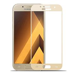 Samsung Galaxy A7 (2017) A720F用強化ガラス フル液晶保護フィルム サムスン ゴールド
