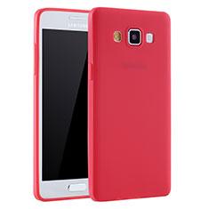 Samsung Galaxy A7 Duos SM-A700F A700FD用極薄ソフトケース シリコンケース 耐衝撃 全面保護 S01 サムスン レッド