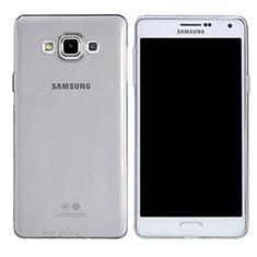 Samsung Galaxy A7 Duos SM-A700F A700FD用極薄ソフトケース シリコンケース 耐衝撃 全面保護 クリア透明 T03 サムスン クリア