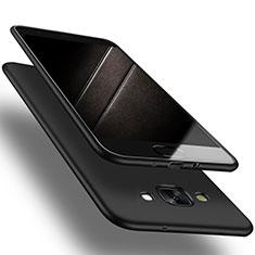 Samsung Galaxy A7 Duos SM-A700F A700FD用極薄ソフトケース シリコンケース 耐衝撃 全面保護 S03 サムスン ブラック