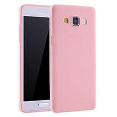 Samsung Galaxy A7 SM-A700用極薄ソフトケース シリコンケース 耐衝撃 全面保護 S01 サムスン ピンク