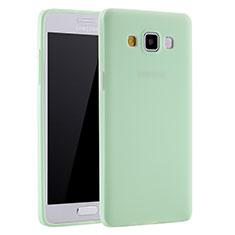 Samsung Galaxy A7 SM-A700用極薄ソフトケース シリコンケース 耐衝撃 全面保護 S01 サムスン グリーン