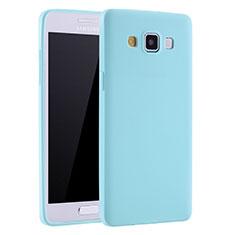 Samsung Galaxy A7 SM-A700用極薄ソフトケース シリコンケース 耐衝撃 全面保護 S01 サムスン ブルー