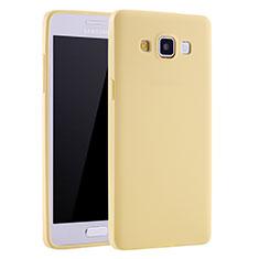 Samsung Galaxy A7 SM-A700用極薄ソフトケース シリコンケース 耐衝撃 全面保護 S01 サムスン イエロー