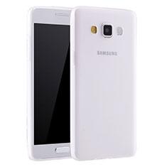 Samsung Galaxy A7 SM-A700用極薄ソフトケース シリコンケース 耐衝撃 全面保護 S01 サムスン ホワイト